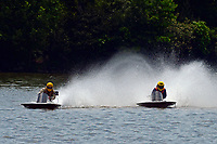 Frame 18: 40-M rides up the rooster tail of 20-M    (Outboard Hydroplane)
