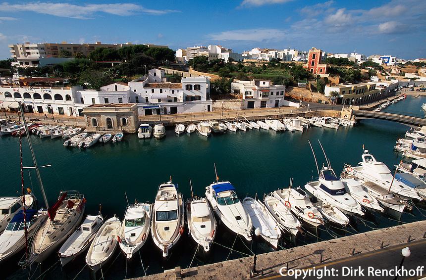 Hafen von  Ciutadella, Menorca, Spanien