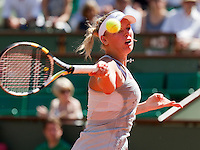 24-05-10, Tennis, France, Paris, Roland Garros, First round match,  Wozniacki