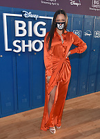 """LOS ANGELES, CA - APRIL 14: Tiana Le attends the world premiere drive-in screening of the Disney + original series """"BIG SHOT"""" at The Grove in Los Angeles, California on April 14, 2021. (Photo by Stewart Cook/Disney +/PictureGroup)"""