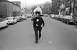 Midgley Pace Egg Play procession through town 1974