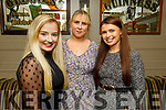 Shanise Houlihan, Jane Carmody and Lorraine Lawlor enjoying the evening in the Brogue Inn on Saturday.