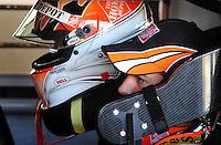 Feb 07, 2009; Daytona Beach, FL, USA; NASCAR Sprint Cup Series driver Joey Logano during practice for the Daytona 500 at Daytona International Speedway. Mandatory Credit: Mark J. Rebilas-