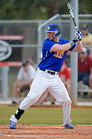 South Dakota State Jackrabbits first baseman Jake Ratz #4 during a game against the Ohio State Buckeyes at North Charlotte Regional Park on February 23, 2013 in Port Charlotte, Florida.  Ohio State defeated South Dakota State 5-2.  (Mike Janes/Four Seam Images)