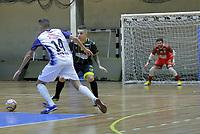 SANTO ANDRÉ, SP, 09.09.2019: FUTSAL-SP - Partida entre Santo André Futsal e o Hortolândia Futsal, pela primeira fase da LPF no Ginásio Noêmia Assunção, em Santo André nesta segunda-feira (09). (Foto: Jorge Bevilacqua/Código19)