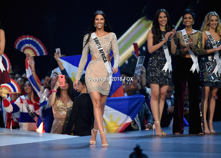 BANGKOK, THAILAND - DECEMBER 17:  Miss South Africa Tamaryn Green onstage on the 2018 MISS UNIVERSE competition at the Impact Arena in Bangkok, Thailand on December 17, 2018. (Photo by Frank Micelotta/FOX/PictureGroup)