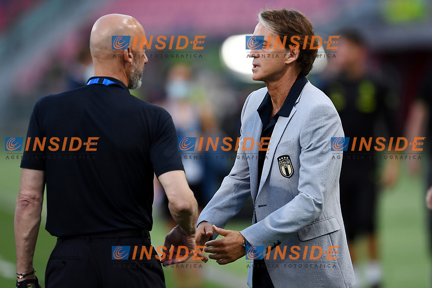 Roberto Mancini,Gianluca Vialli<br /> Uefa European friendly football match between Italy and Czech Republic at stadio Renato Dall'Ara in Bologna (Italy), June, 4th, 2021. Photo Image Sport / Insidefoto