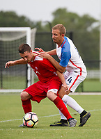 Lakewood Ranch, FL - Sunday July 23, 2017: Bryce Boarman during an international friendly match between the paralympic national teams of the United States (USA) and Canada (CAN) at Premier Sports Campus at Lakewood Ranch.