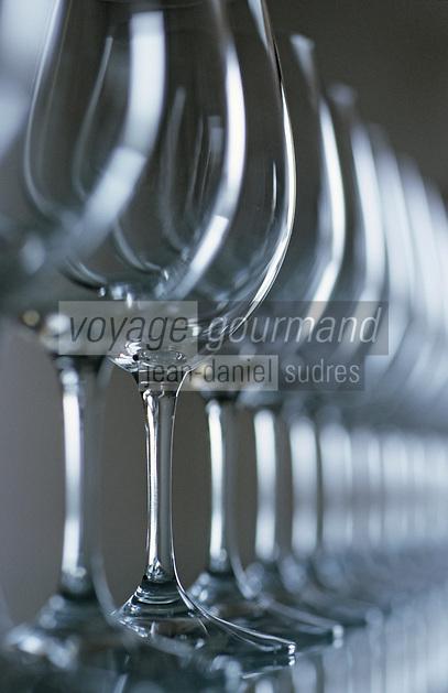 Europe/France/Aquitaine/33/Gironde/Pauillac: Dégustation des vins AOC Pauillac - Les verres
