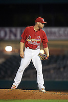 Palm Beach Cardinals relief pitcher Daniel Bard (33) during a game against the Jupiter Hammerheads  on August 12, 2016 at Roger Dean Stadium in Jupiter, Florida.  Jupiter defeated Palm Beach 9-0.  (Mike Janes/Four Seam Images)