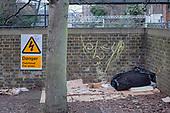 Rough sleeping place, Camden Town.