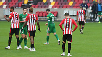 The final whistle and Brentford suffer their first defeat at their new Stadium during Brentford vs Preston North End, Sky Bet EFL Championship Football at the Brentford Community Stadium on 4th October 2020