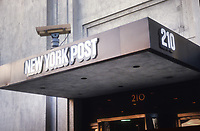 New York Post Building in the late 1970's<br /> Photo By Adam Scull/PHOTOlink.net
