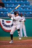 Visalia Rawhide first baseman Mark Karaviotis (24) during a California League game against the San Jose Giants on April 12, 2019 at San Jose Municipal Stadium in San Jose, California. Visalia defeated San Jose 6-2. (Zachary Lucy/Four Seam Images)