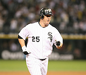 Jim Thome of the Chicago White Sox rounds third base after a homerun vs. the Florida Marlins: June 19th, 2007 at Wrigley Field in Chicago, IL.  Photo copyright Mike Janes Photography 2007.