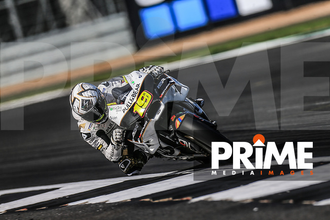 Alvaro Bautista (19) of the Angel Nieto Team (Ducati) race team during the GoPro British MotoGP at Silverstone Circuit, Towcester, England on 26 August 2018. Photo by Chris Brown / PRiME Media Images