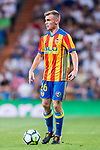 Antonio Latorre Grueso, Lato, of Valencia CF in action during their La Liga 2017-18 match between Real Madrid and Valencia CF at the Estadio Santiago Bernabeu on 27 August 2017 in Madrid, Spain. Photo by Diego Gonzalez / Power Sport Images