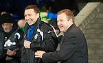 St Johnstone v Hamilton Accies....02.02.11  .Billy Reid and Derek McInnes all smiles before kick off.Picture by Graeme Hart..Copyright Perthshire Picture Agency.Tel: 01738 623350  Mobile: 07990 594431