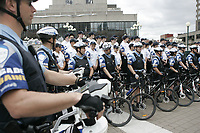 Photo d'archive de la police de Montreal -<br /> Policiers a velo<br /> <br /> PHOTO :  AGENCE QUEBEC PRESSE
