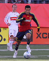 Javier Morales #11 of Real Salt Lake. The Chicago Fire and Real Salt Lake played to a 1-1 tie during a Major League Soccer match at Rice-Eccles Stadium in Salt Lake City, Utah on March 29, 2008.