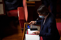 The Movement 5 Stars senator Gianluca Perilli during the information at the Senate about the government crisis.<br /> Rome(Italy), January 19th 2021<br /> Photo Pool Antonio Masiello/Insidefoto