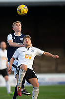 21st November 2020; Somerset Park, Ayr, South Ayrshire, Scotland; Scottish Championship Football, Ayr United versus Dundee FC; Andy Murdoch of Ayr United challenges for the ball with Max Anderson of Dundee