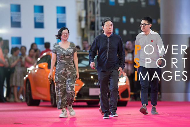 Su Biao, Ran Jianan, Wang Hailin, Dong Rennin, and Zhou Zhiyong walk the Red Carpet event at the World Celebrity Pro-Am 2016 Mission Hills China Golf Tournament on 20 October 2016, in Haikou, China. Photo by Victor Fraile / Power Sport Images