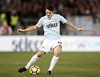 Calcio, Serie A: Lazio - Genoa, Roma, Stadio Olimpico, 5 Febbraio 2018. <br /> Lazio's Luis Alberto Romero in action during the Italian Serie A football match between Lazio and Genoa at Rome's Stadio Olimpico, February 5, 2018.<br /> UPDATE IMAGES PRESS/Isabella Bonotto