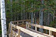Pondicherry Wildlife Refuge - Boardwalk along the Mud Pond Trail in Jefferson, New Hampshire during the autumn months.