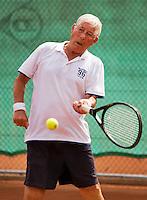 Netherlands, Amstelveen, August 21, 2015, Tennis,  National Veteran Championships, NVK, TV de Kegel,  Gerard van Schaik<br /> Photo: Tennisimages/Henk Koster