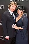 """The writer of the book Erika Leonard Mitchell with his husband Niall Leonard attends to the premiere of the film """"Fifty Shades Darker"""" at Kinepolis Cinemas in Madrid. February 08, 2017. (ALTERPHOTOS/Borja B.Hojas)"""
