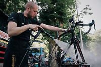 post-race bike cleaning<br /> <br /> 104th Tour de France 2017<br /> Stage 4 - Mondorf-les-Bains › Vittel (203km)