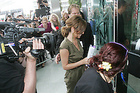 28/6/2010. The X Factor Judge Cheryl Coyle is pictured arriving at the Dublin Convention center Spencer Dock. Picture James Horan/Collins.