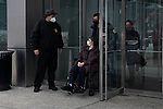 People exit a COVID-19 vaccination center at the Jacob K. Javits Convention Center in New York, United States, on Saturday, January 16, 2021. Photograph by Michael Nagle