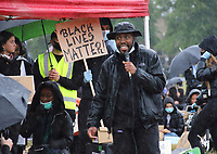 Around 5000People gather at Parker's Piece, Cambridge, as part of a worldwide Black Lives Matter solidarity Protest triggered by the death in the USA George Floyd, while in police custody. Cambridge, UK on June 6th 2020<br /> <br /> Photo by Keith Mayhew