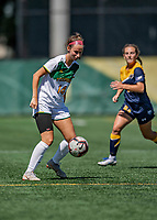1 September 2019: University of Vermont Catamount Forward Ava Keaffaber , a Freshman from Fishers, IN, in action against the Merrimack College Warriors in Game 3 of the TD Bank Women's Soccer Classic at Virtue Field in Burlington, Vermont. The Lady Warriors rallied in the second half to defeat the Catamounts 2-1. Mandatory Credit: Ed Wolfstein Photo *** RAW (NEF) Image File Available ***