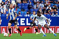22nd September 2021: RCDE Stadium, Barcelona, Spain: La Liga Football, Espanyol versus Atletico Madrid; <br /> Sergi Darder of RCD Espanyol looks for a forward pass