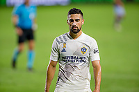 CARSON, CA - SEPTEMBER 19: Sebastian Lletget #17 of the Los Angeles Galaxy position himself for a corner kick during a game between Colorado Rapids and Los Angeles Galaxy at Dignity Heath Sports Park on September 19, 2020 in Carson, California.