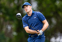 30th May 2021; Fort Worth, Texas, USA;  Jordan Spieth hits his tee shot on #12 during the final round of the Charles Schwab Challenge on May 30, 2021 at Colonial Country Club in Fort Worth, TX.