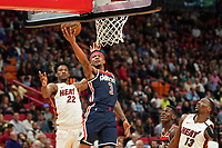 Dunking Bradley Beal (G, Washington Wizards, #3) - 22.01.2020: Miami Heat vs. Washington Wizards, American Airlines Arena