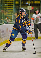 29 December 2013:  Canisius College Golden Griffins defenseman Doug Jessey, a Junior from Langdon, Alberta, in second period action against the University of Vermont Catamounts at Gutterson Fieldhouse in Burlington, Vermont. The Catamounts defeated the Golden Griffins 6-2 in the 2013 Sheraton/TD Bank Catamount Cup NCAA Hockey Tournament. Mandatory Credit: Ed Wolfstein Photo *** RAW (NEF) Image File Available ***