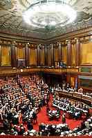 PANORAMICA.Roma 22/12/2011 Senato. Voto di Fiducia sulla Manovra Economica.Votation at Senate about austerity plan. .Photo Samantha Zucchi Insidefoto