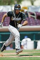 Jamie D'Antona of the Lancaster JetHawks runs to first base during a 2004 season California League game against the Lancaster JetHawks at San Manuel Stadium in San Bernardino, California. (Larry Goren/Four Seam Images)