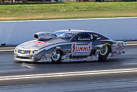 Jun. 1, 2013; Englishtown, NJ, USA: NHRA pro stock driver Greg Anderson during qualifying for the Summer Nationals at Raceway Park. Mandatory Credit: Mark J. Rebilas-