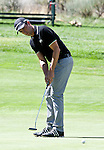 August 5, 2012:  Alexandre Rocha from Sao Paulo, Brazil hits putts on the 5th hole during the final round of the 2012 Reno-Tahoe Open Golf Tournament at Montreux Golf & Country Club in Reno, Nevada.
