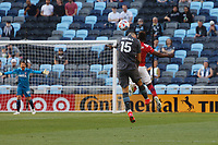 SAINT PAUL, MN - MAY 15: Michael Boxall #15 of Minnesota United FC during a game between FC Dallas and Minnesota United FC at Allianz Field on May 15, 2021 in Saint Paul, Minnesota.