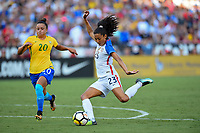 San Diego, CA - Sunday July 30, 2017: Christen Press during a 2017 Tournament of Nations match between the women's national teams of the United States (USA) and Brazil (BRA) at Qualcomm Stadium.