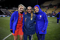 COLUMBUS, OH - NOVEMBER 07: Lindsey Horan #9 and Tobin Heath #17 of the United States during a game between Sweden and USWNT at MAPFRE Stadium on November 07, 2019 in Columbus, Ohio.