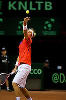 13-sept.-2013,Netherlands, Groningen,  Martini Plaza, Tennis, DavisCup Netherlands-Austria, Second rubber, Thiemo de Bakker (NED)  <br /> Photo: Henk Koster