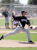 Ethan Hollingsworth, Colorado Rockies 2010 minor league spring training..Photo by:  Bill Mitchell/Four Seam Images.